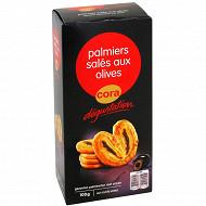 Cora dégustation palmiers olives fourrés noires 100g