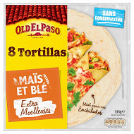 Old el Paso tortillas de maïs souples 335g