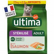 Ultima chats stérilisés saumon 7.5kg + 2.5 kg offerts