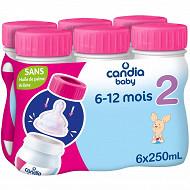Candia baby 2ème age 6x25cl