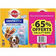 Pedigree dentastix bipack 0.720gx2 pour moyen chien 65% sur le second