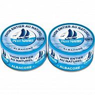 Petit navire thon naturel albacore 93gx2