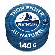 Petit navire  thon naturel albacore  140 g net égoutté