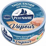 Petit Navire thon vapeur nature 130g