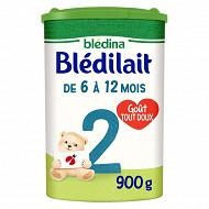 Bledilait lait poudre 2ème âge de 6 à 12 mois 900g