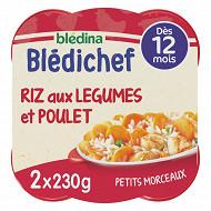 Blédichef riz aux légumes et poulet dès 12 mois 2x230g