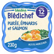 Blédichef purée onctueuse épinards saumon dès 12 mois 230g