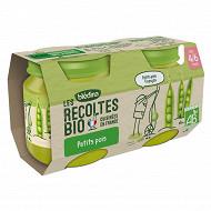 Blédina Bio Petits pois 130g x2