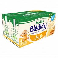 Bledina blédidèj brique de lait et céréales saveur miel 4x250ml dès 6 mois