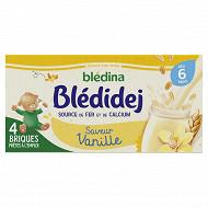 Blédina Bledidej brique de lait et céréales saveur vanille 4x250ml dès 4 mois