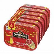 Connétable 1/5 sardines à l'huile d'olive vierge extra 135g  lot 5+1