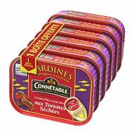 Connétable 1/5 sardines à l'huile d'olive aux tomates séchées 135g  lot de 5+1 boite
