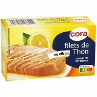 Cora filets de thon au citron 115 g