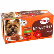 Cora terrines riches en viande pour chien 4x150g