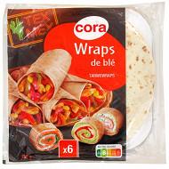 Cora tortillas wraps x 6 pièces 370g