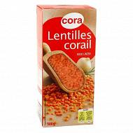 Cora lentilles corail 500g