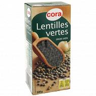 Cora lentilles vertes 500g