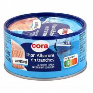 Cora thon albacore au naturel en tranche 140g