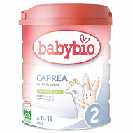 Babybio Caprea lait poudre 2ème âge de 6 à 12 mois 800g