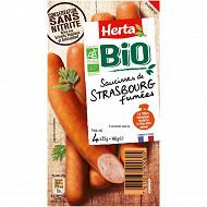 Herta saucisses bio conservation sans nitrite x4 140g