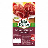 Isla Délice saucisson sec tranche halal 120g