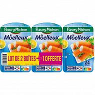 """Fleury Michon """"Le Moelleux"""" 24 bâtonnets de surimi 384g lot de 2+1 offert"""