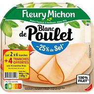 Fleury michon blanc de poulet -25% de sel 2x 6tranches fines +4 offertes 240g