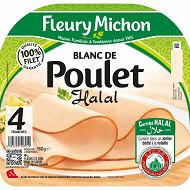 Fleury Michon blanc de poulet halal 4 tranches 160 g
