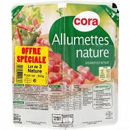 Cora allumettes nature supérieur  3x200g