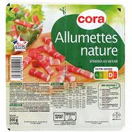 Cora allumettes nature qualité supérieure 2x100g