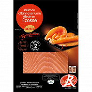 Cora dégustation saumon fumé Ecosse label rouge 2 tranches 80g