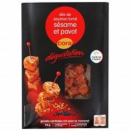 Cora dégustation dés de saumon fumé sésame pavot 90g