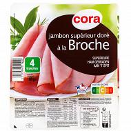 Cora jambon cuit supérieur à la broche 4 tranches 160g