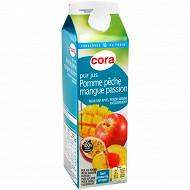Cora pur jus pomme pêche mangue passion 1l
