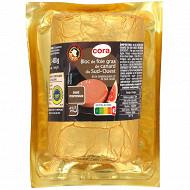 Cora bloc de foie gras de canard du Sud-ouest avec morceaux 450g