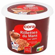 Cora rillettes du Mans pur porc pot 220 g