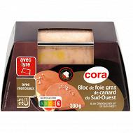 Cora bloc de foie gras de canard du Sud-Ouest avec morceaux 300g + lyre