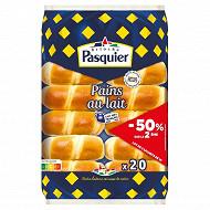 Brioche Pasquier pains au lait  lot de 2x10 - le 2ème -50% 700g