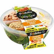 Sodebo salade garden poulet caesar + concassé de tomates à tartiner 240g