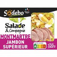 Sodebo Salade Montmartre jambon oeuf tomate emmental 320g