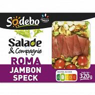 Sodebo Salade Roma jambon speck tomate mozzarella 320g