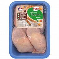 Cora cuisse de poulet blanc sans OGM sans antibiotiques x4