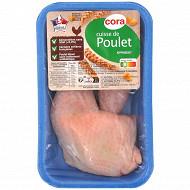 Cora cuisse de poulet blanc sans OGM sans antibiotiques x2