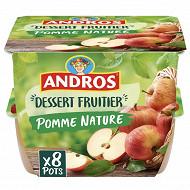Andros dessert de pommes natures 8x100g
