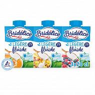 Bridélice crème légère fluide 12% mg 3x20cl