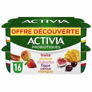 Activia fruits panaché 16x125g offre découverte