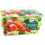 Cora yaourt aux fruits panaché avec morceaux 16 x 125g