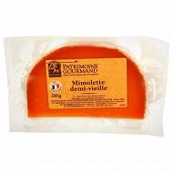 Patrimoine gourmand mimolette demi-vieille au lait pasteurisé 27%mg 210g