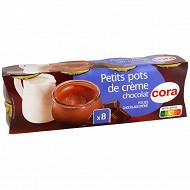 Cora petit pot de crème dessert lacté au chocolat 8x100g
