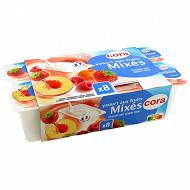 Cora yaourt aux fruits mixés 8 x 125g